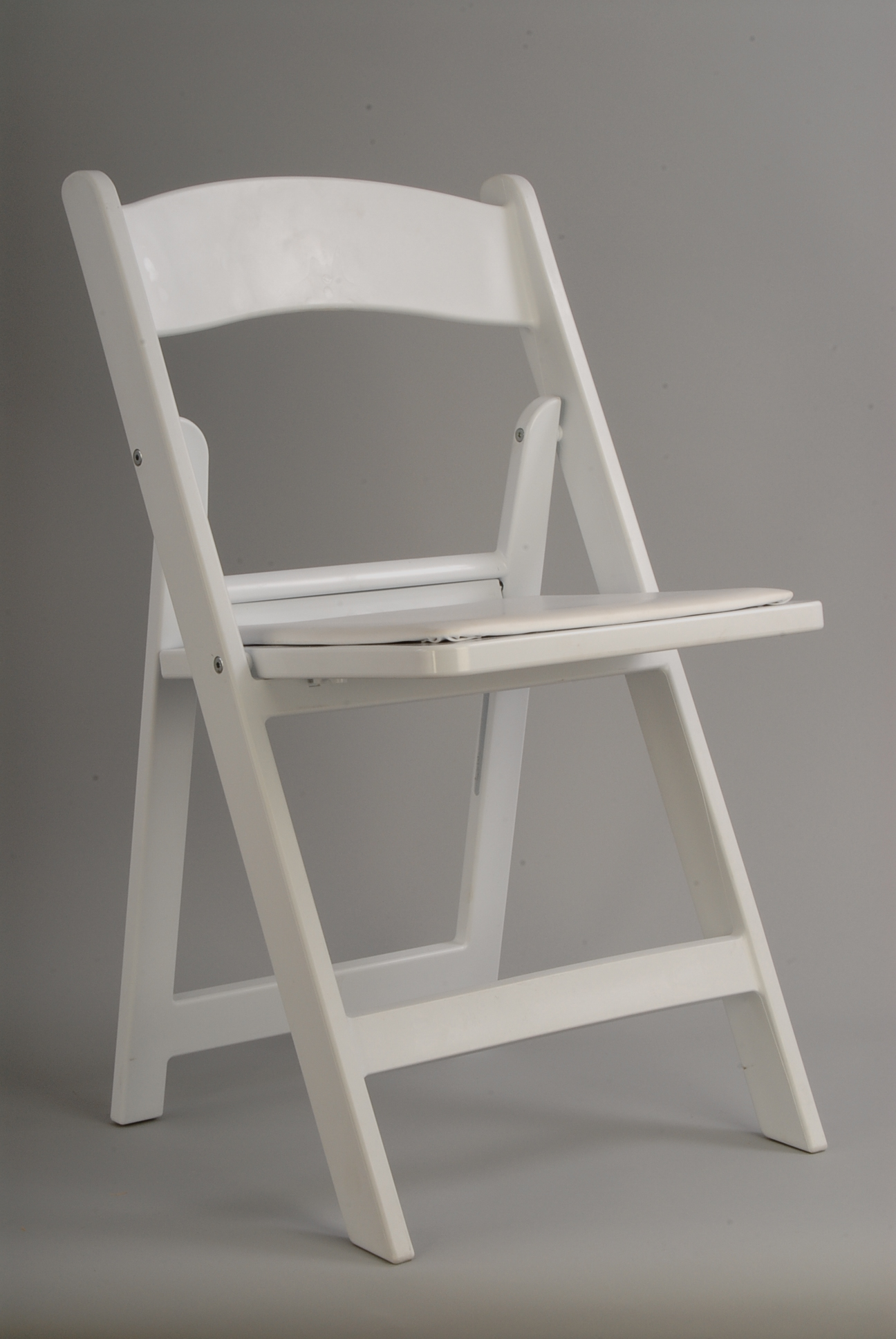 White Resin Folding Chair rentals online $4 day