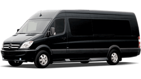 Image of a 14 Passenger Transit Van