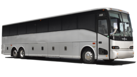 Image of a 54 Passenger Charter Bus