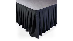 Image of a 16x36 BLACK Polyester Stage Skirt