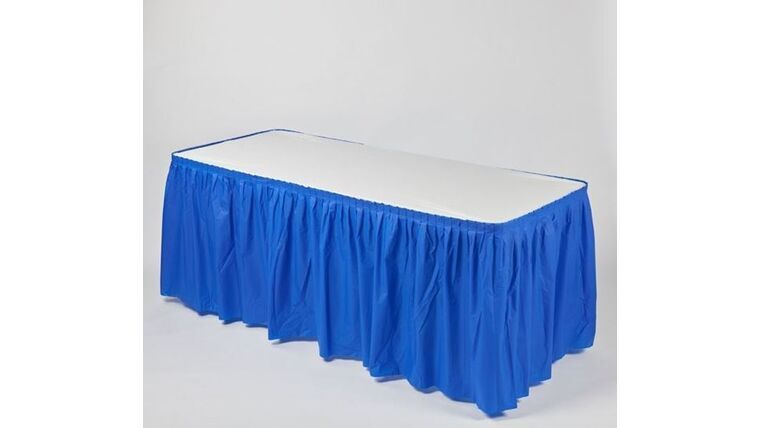 Picture of a 13' BLUE Kwik Cover Skirt