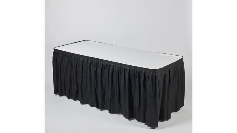 Picture of a 13' BLACK Kwik Cover Skirt