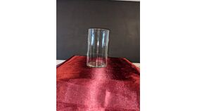 "Image of a 6"" Clear Glass Cylindrical Vase"