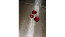 Image of a Scarlet Red Glass Gem Vase Fillers