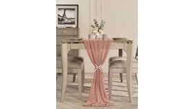 Image of a 14 Foot Chiffon Table Runner Dusty Rose