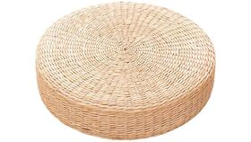Image of a 10 Round Straw Floor Cushion
