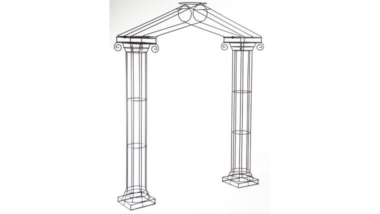 Picture of a 3 Pc Wrought Iron Arbor