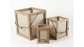 Image of a Box, Small Square Screened With Handles, AST
