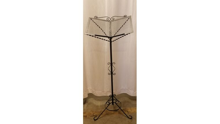 Picture of a Black Wrought Iron Music Stand, AST