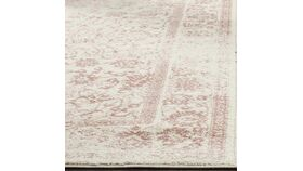 Image of a 5' x 7.5' Ivory & Rose Distressed Area Rug