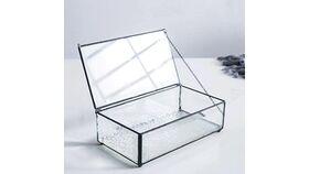 Image of a Black Glass Card Box