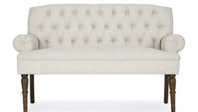 Image of a Ivory Tufted Settee