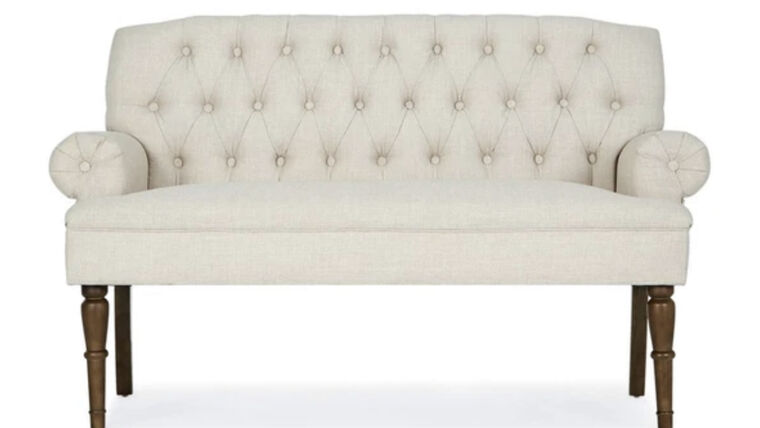 Picture of a Ivory Tufted Settee