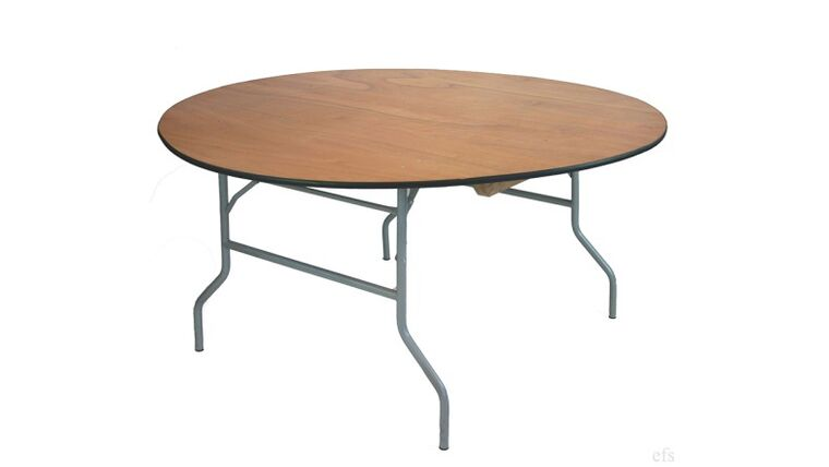 """Picture of a 48"""" Round Folding Table"""