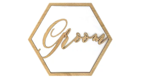 Image of a Wood Chair Sign, Groom