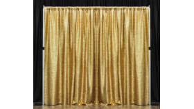 Image of a Drape for 10' Length, [3 Panels] GOLD SEQUIN