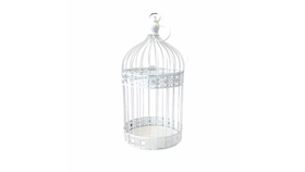 Image of a Birdcage, Decorative White Metal