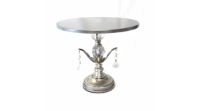 Image of a Cake Stand, Silver Chandelier, Medium