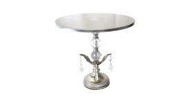 Image of a Cake Stand, Silver Chandelier, Large #1