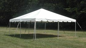 Image of a 15' x 15' Pole Tent (White)