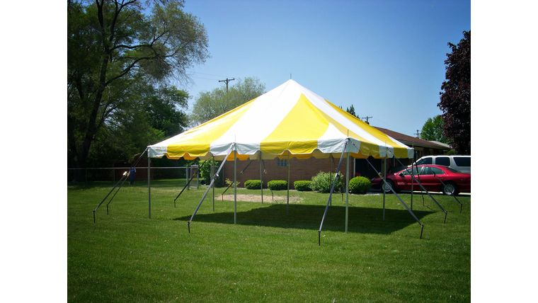 Picture of a 20' x 20' Pole Tent (Yellow)