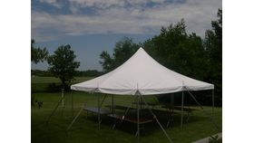 Image of a 20' x 20' Pole Tent (White)