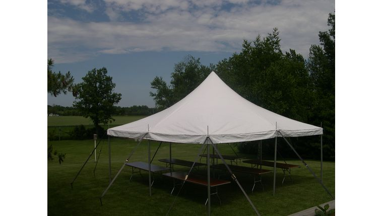Picture of a 20' x 20' Pole Tent (White)