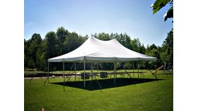 Image of a 20' x 30' Pole Tent (White)