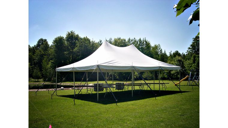 Picture of a 20' x 30' Pole Tent (White)