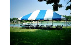 Image of a 20' x 30' Pole Tent (Blue)