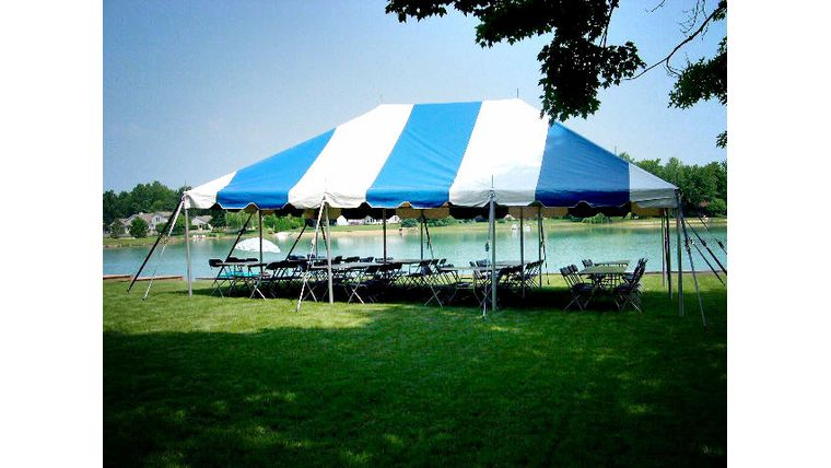 Picture of a 20' x 30' Pole Tent (Blue)