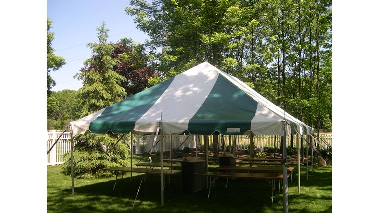 Picture of a 20' x 30' Pole Tent (Green)