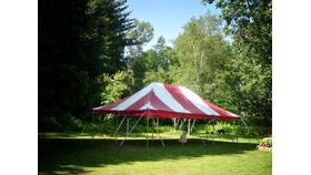 Image of a 20' x 30' Pole Tent (Red)