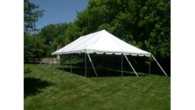 Image of a 20' x 40' Pole Tent (White)