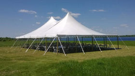 Image of a 40' x 40' Pole Tent