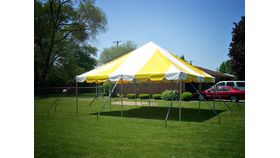 "Image of a ""Social"" Graduation Party Package (Yellow/White Tent)"