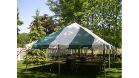 "Image of a ""Shindig"" Graduation Party Package (Green/White Tent)"