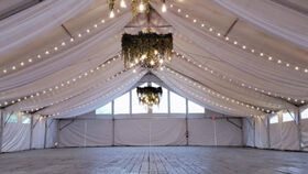 Image of a 40 x 100 Tent Ceiling Draping