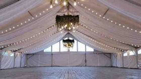 Image of a 40 x 80 Tent Ceiling Draping
