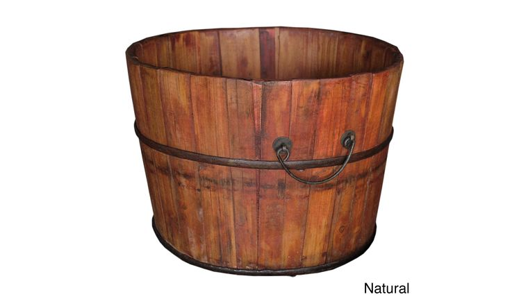 Picture of a Antique Wooden Bucket