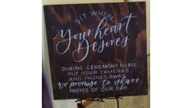 """Image of a 24"""" 24"""" Wood Unplugged Sign"""
