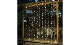 Image of a Fairy Lights Curtain, Cool White - 10' x 10'