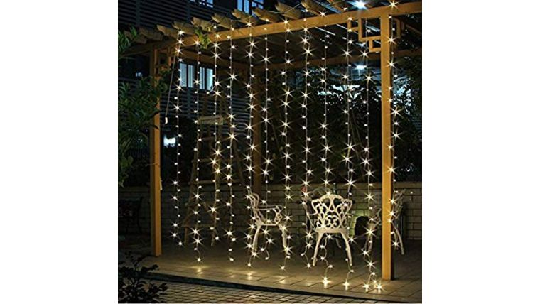 Picture of a Fairy Lights Curtain, Cool White - 10' x 10'