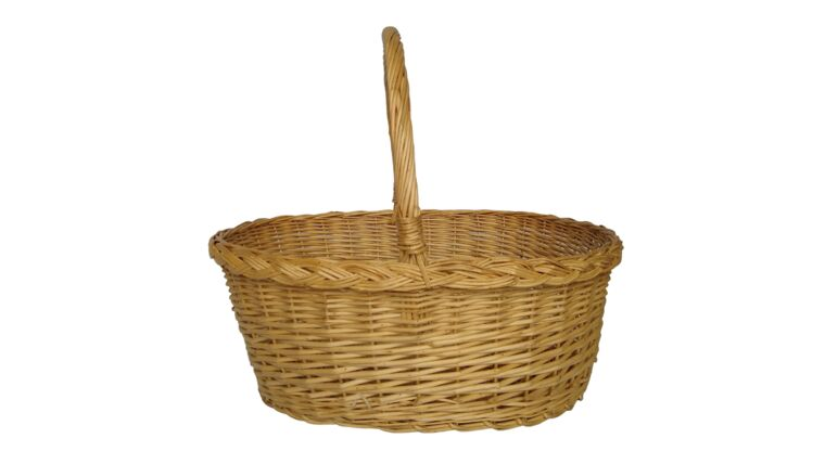 """Picture of a Basket - Natural Color, Oval 15"""" x 19"""""""