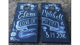 Image of a Cornhole - Chalkboard Lawn & Backyard Games