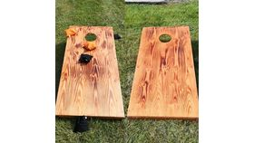 Image of a Cornhole - Stained Wood Lawn & Backyard Games