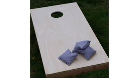 Image of a Cornhole - Natural Wood Lawn & Backyard Games