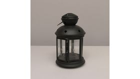 "Image of a Estrella 8.25"" black Lamps & Lanterns"