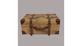 Image of a Suitcase - Travel Print Linen