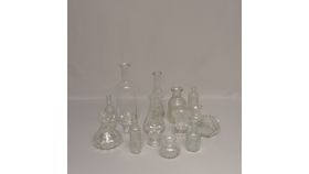 Image of a Bottles-assorted clear glass tote
